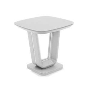 Lazio Lamp Table - White Gloss