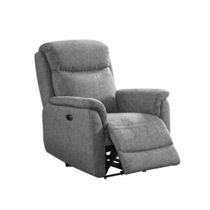 Kayden Electric Recliner - Fabric Grey