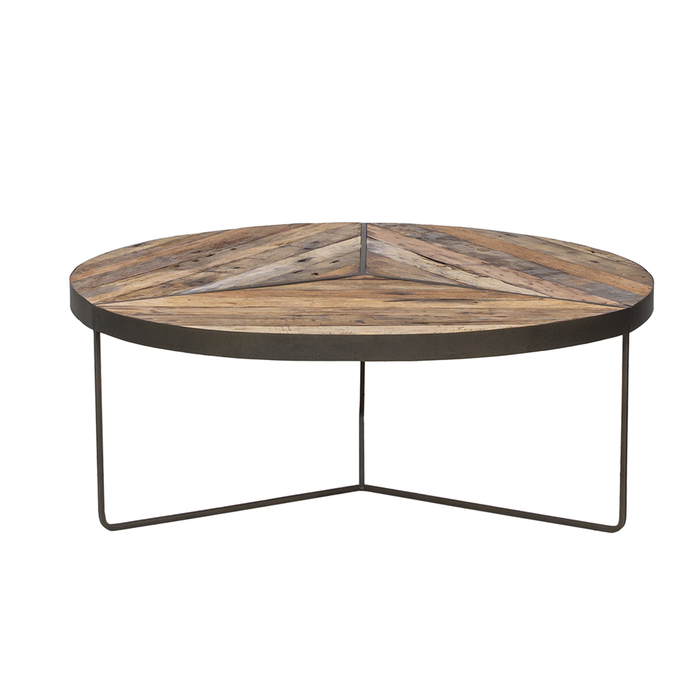 Kielder Round Rustic Coffee Table Large