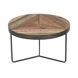 Kielder Round Rustic Coffee Table Small