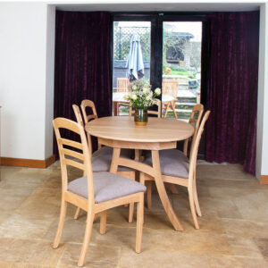 Albury 160cm Oval Table & x6 Ladder Back Chairs Set