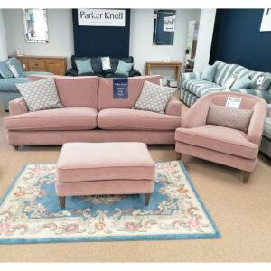 Parker Knoll Hoxton Grand Sofa + Fitzroy Chair & Fitzroy Stool Set