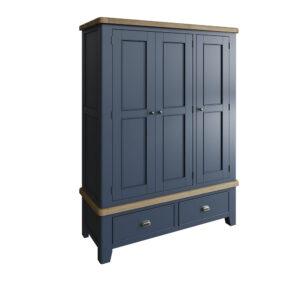 Heritage Blue 3 Door Wardrobe