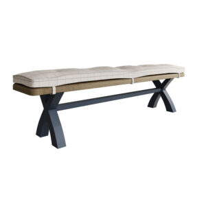 Heritage Blue 2.0m Bench Natural Check Cushion Only