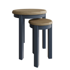 Heritage Blue Round Nest of Table