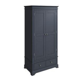 Whitby Midnight Grey 2 Door Wardrobe
