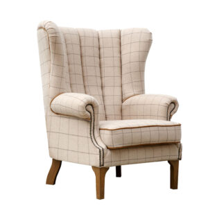 Fluted Wing Chair - Natural