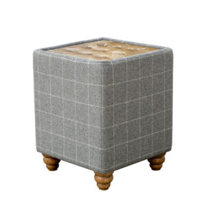 Button Top Side Table - Grey