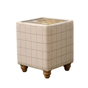 Button Top Side Table - Natural