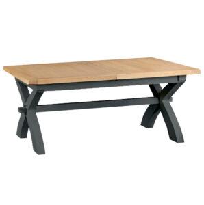 Henley Charcoal 1.8m Cross Extending Table