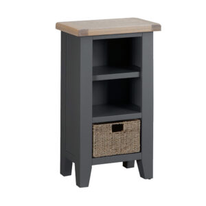 Henley Charcoal Small Narrow Bookcase