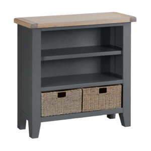 Henley Charcoal Small Wide Bookcase