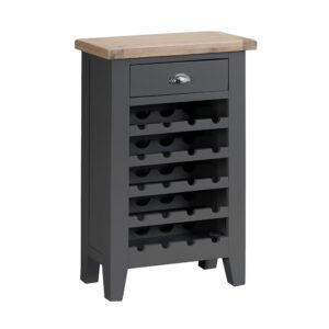 Henley Charcoal Wine Cabinet
