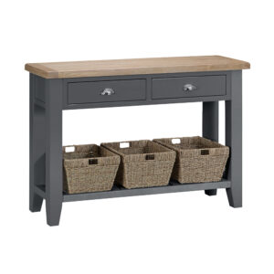 Henley Charcoal Large Console Table