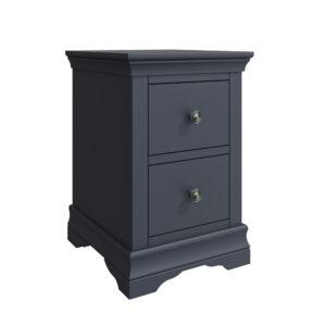 Croft Midnight Grey Bedside Cabinet