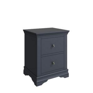 Croft Midnight Grey Large Bedside Cabinet