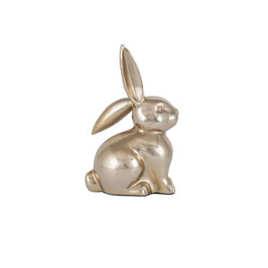 Gold Metal Small Rabbit Ornament