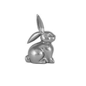 Silver Metal Small Rabbit Ornament