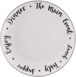Carnaby Script Dinner Plate 26.5cm