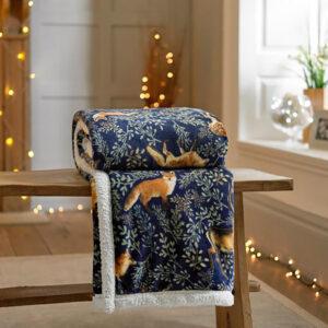 Deyongs Fox and Deer Flannel Throw - 140 x 180cm