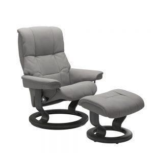 Stressless Mayfair M Classic Chair & Stool Paloma Silver Grey/Grey