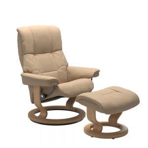Stressless Mayfair M Classic Chair & Stool Paloma Beige/Oak