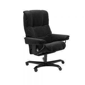 Stressless Mayfair M Office Chair Paloma Black/Black Wood
