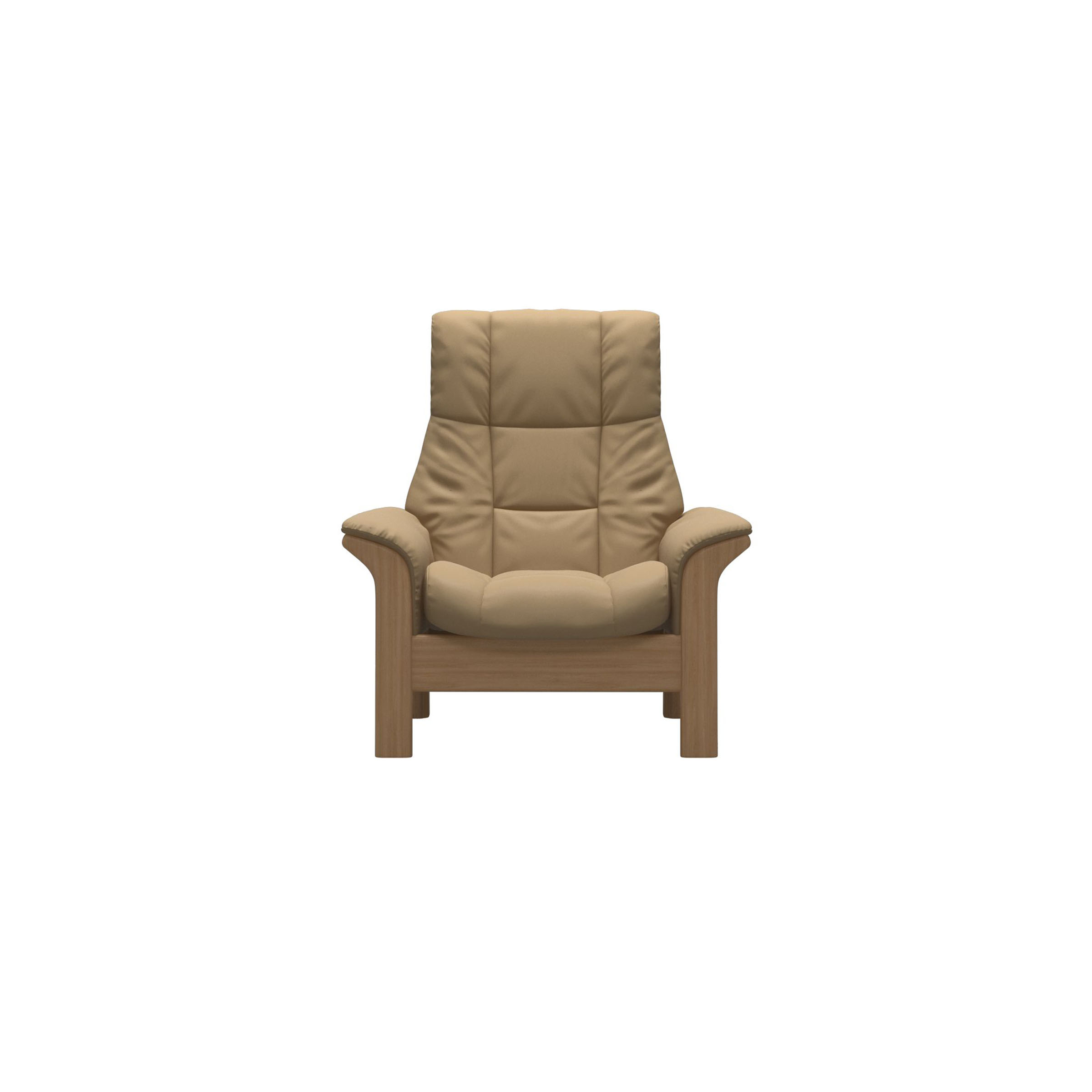 Stressless Windsor High Back Chair Paloma Sand/Oak