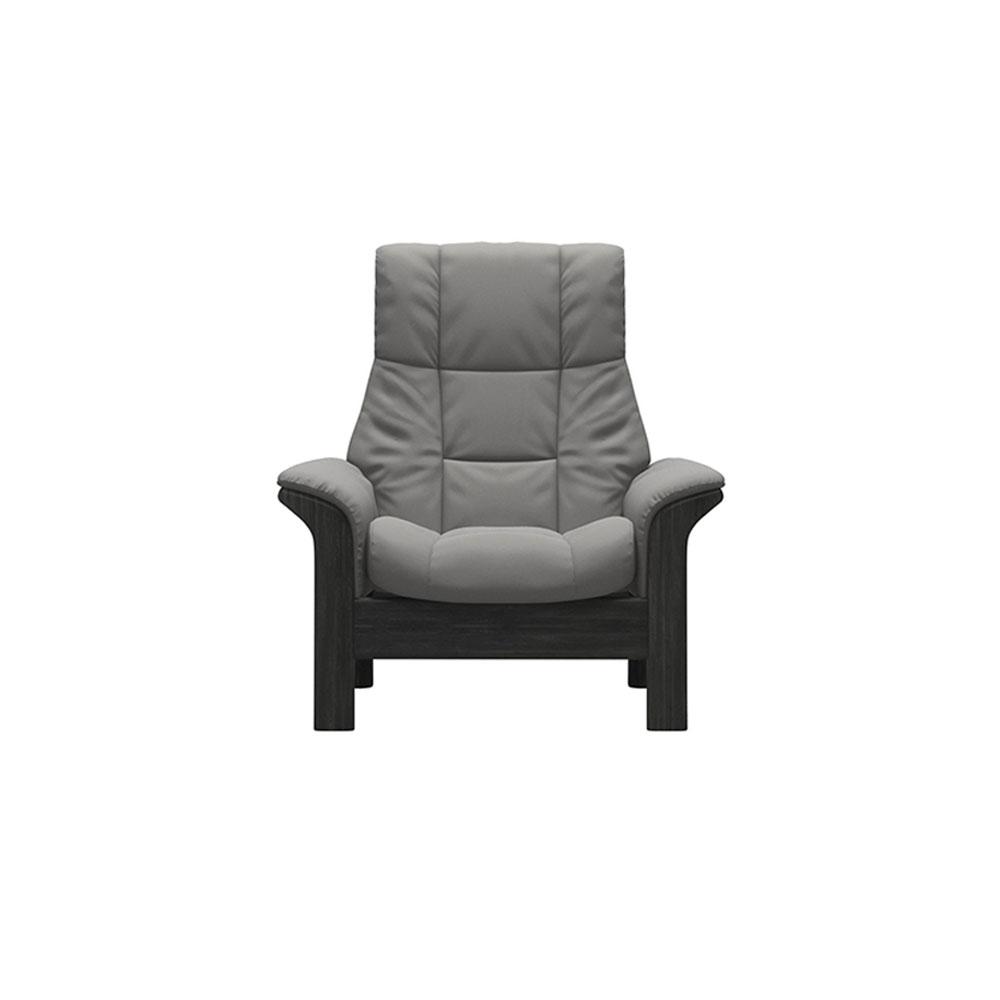 Stressless Windsor High Back Chair Paloma Silver Grey/Grey