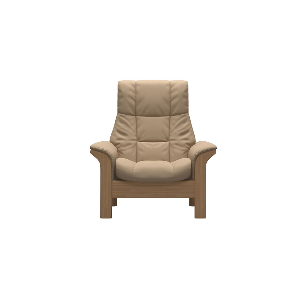 Stressless Windsor High Back Chair Paloma Beige/Oak