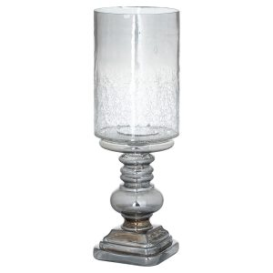 Smoked Midnight Glass Candle Holder