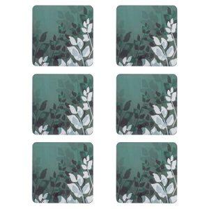 Denby Colours Set of 6 Coasters - Green Foliage
