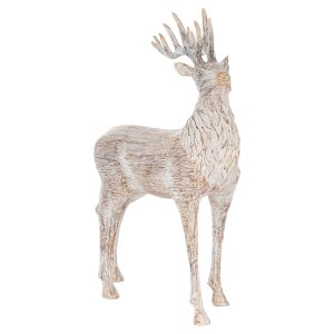 Carved Wood Effect Stag