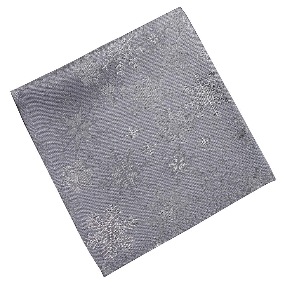 Snow Crystal Napkin Grey