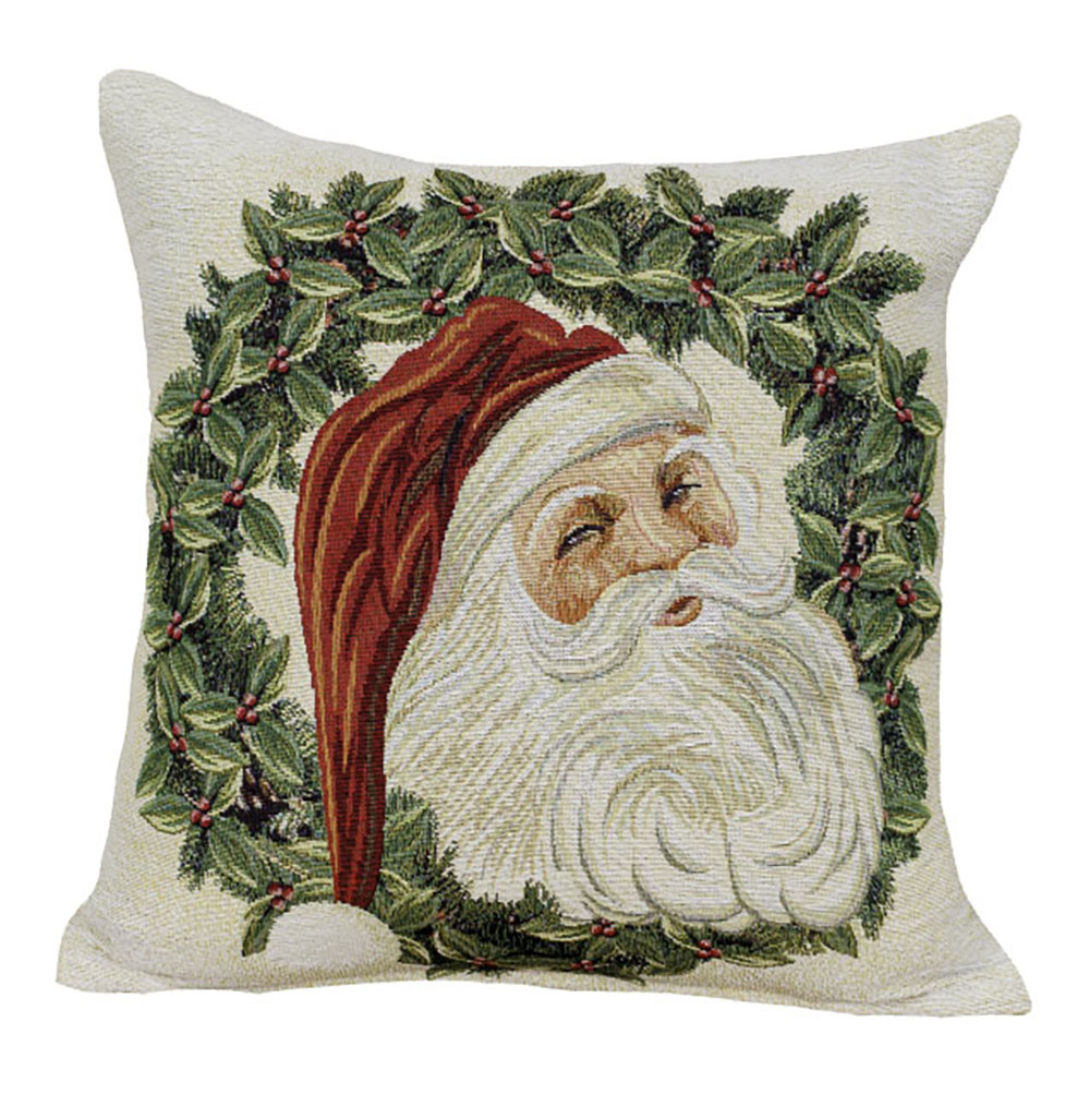 Santas Wreath Cushion