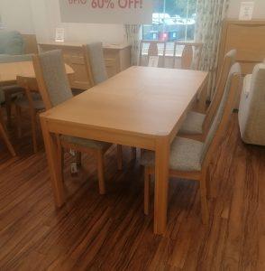 Malmo 120cm Table & 4 Chairs Set