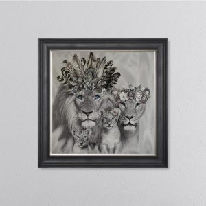 Lion Family 68 x 68 Picture