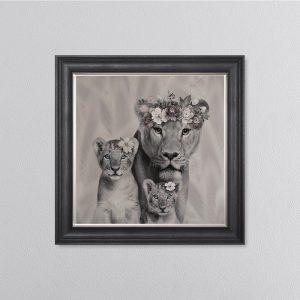 Lion Mum 68 x 68 Picture